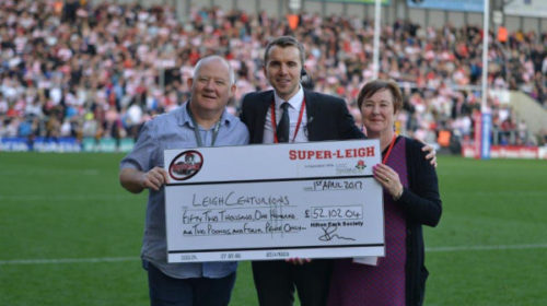 "Centurions Thank SuperLeigh For ""Super"" Donation"