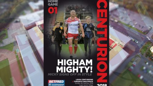 Centurions Announce Squad For Betfred Championship Opener