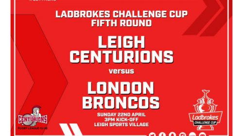 Leigh Centurions Vs London Broncos – Ladbrokes Challenge Cup – Tickets On Sale Now