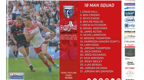 Centurions Announce Squad For Toulouse Game