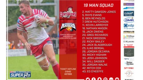Leigh Centurions Announce Squad For Barrow Game