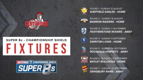 Betfred Championship Shield Fixtures Announced