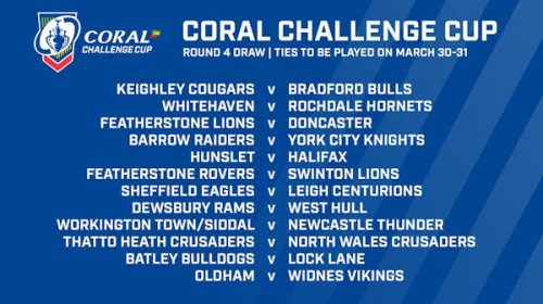 Leigh Drawn Away To Sheffield In Round 4 Of The Coral Challenge Cup