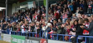 Leigh fans at Spotland
